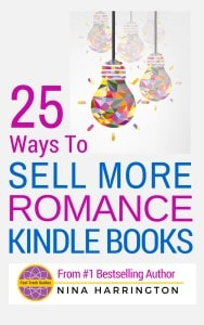 25 ways to sell more romance kindle books -cover image